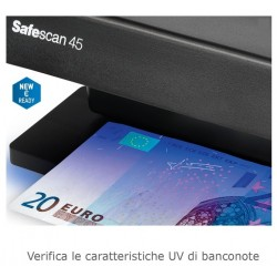 VERIFICATORE BANCONOVERIFICATORE BANCONOTE FALSE SAFESCAN 45TE FALSE SAFESCAN 45