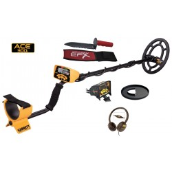 ACE 300i Metal Detector + screen protector, Head phone and coil cover