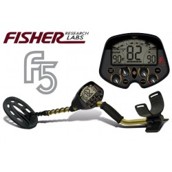 "METAL DETECTOR FISHER F5 10"" SEARCH METALS GOLD RING COINS"