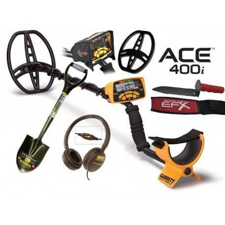 Ace 400i Metal Detector + Accessories + Gift excavation knife
