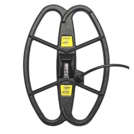 """PER METAL DETECTOR MINELAB SERIE PIASTRA CORS COIL SCOUT 12,5""""X8,5"""" DD 139,00 €"""