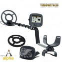 Teknetics Alpha 2000 PRO metal detector entry level con piastra e copri display