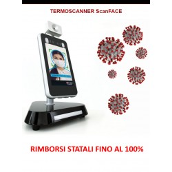 CONTROLLO ACCESSI 3 IN 1 TOUCHLESS ScanFACE V1/T PER COVID-192 013,00 €