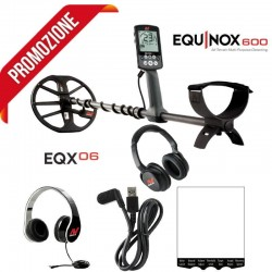 METAL DETECTOR MINELAB EQUINOX 600 + WIRELESS BLUETOOTH HEADSET INCLUDED IN THE PRICE