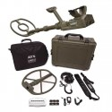 Garrett ATX Extreme DeepSeeker metal detector equipped with two coils