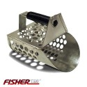 PERFORATED SAND SCOOP FISHER SHOVEL IN GALVANIZED METAL FOR DRY AND WET SAND