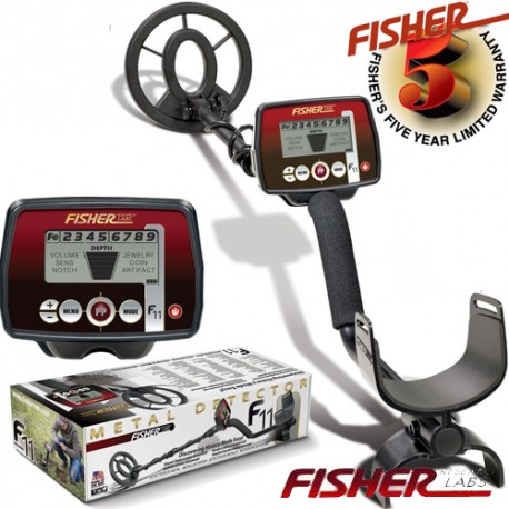 METAL DETECTOR FISHER F11 SEARCH METALS GOLD RINGS COINSFISHER