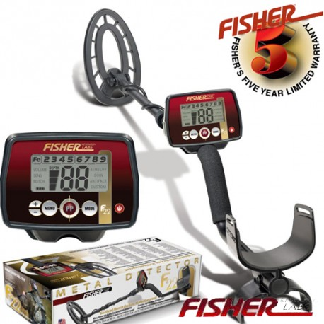 METAL DETECTOR FISHER F22 SEARCH METALS GOLD RING COINS 250,00 €