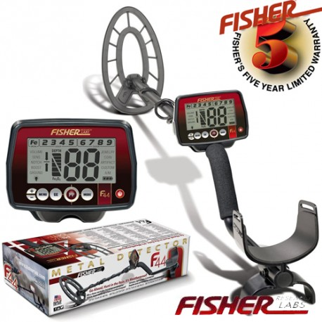 """METAL DETECTOR FISHER F44 11"""" SEARCH METALS GOLD RING COINSFISHER"""