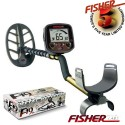 """METAL DETECTOR FISHER F19 11 """" DD FIND METALS BEACH AND BATTLE"""
