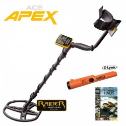 METAL DETECTOR GARRETT ACE APEX MULTIFREQUENCY SIMULTANEOUS RAIDER COIL + FREE PRO-POINTER AT Z-LINKGARRETT product_reduction...