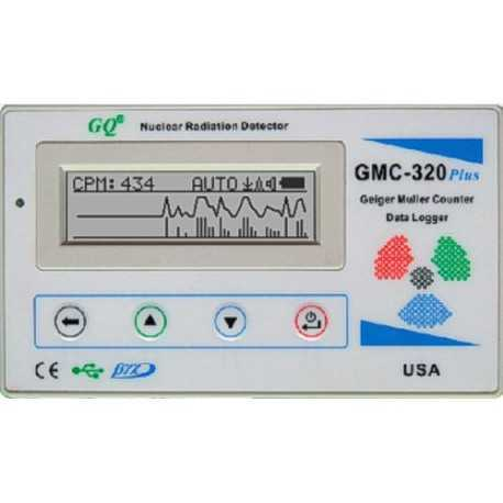 GQ ELECTRONICS GMC-320 PLUS GEIGER COUNTER NUCLEAR RADIATION DETECTOR