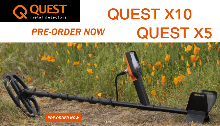 Book your new Quest X10 metal detector!